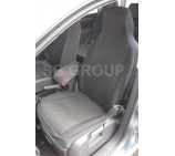 Peugeot Partner van seat covers anthracite sports fabric - 2 fronts